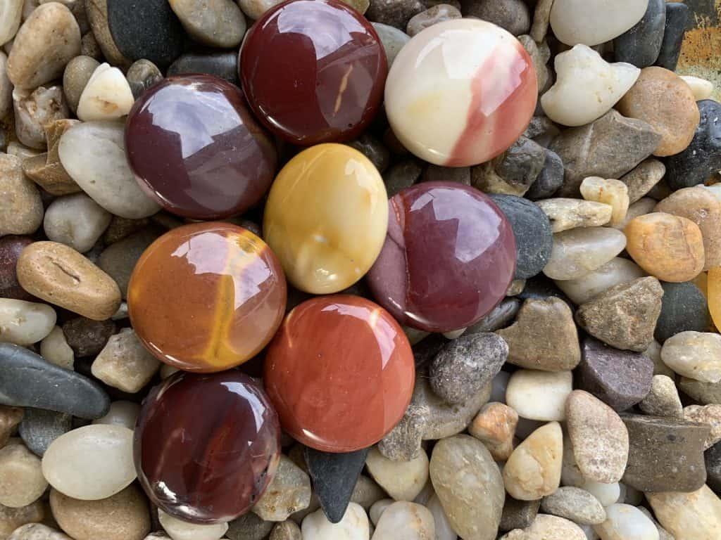 mookaite jasper toe stones